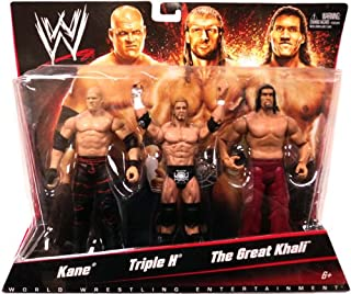 Mattel WWE Wrestling Basic Series 2 Exclusive Action Figure 3Pack Kane, Triple H The Great Khali