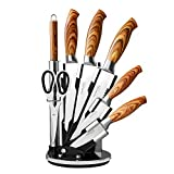 Kitchen Knife Set with Block– Pr...