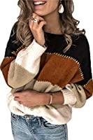 ANCAPELION Women's Casual Sweater Pullover Winter Basic Sweatshirt Long Sleeve Cozy Knitted Jumper Tops Loose Fit