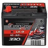 BlackMax U1 +30% Garden Power Rasentraktor-Batterie 12V 32Ah 330A Starterbatterie für Aufsitzmäher wartungsfrei