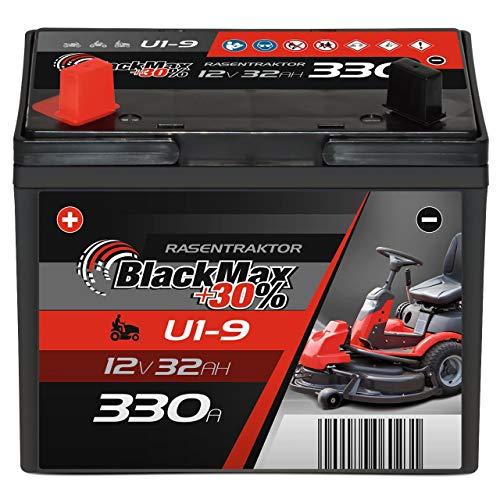 BlackMax U1 +30{f8cd3fa1e392e1158e0028d0c1b977e721d2ac8d223916870a72b5d085f2a396} Garden Power Rasentraktor-Batterie 12V 32Ah 330A Starterbatterie für Aufsitzmäher wartungsfrei