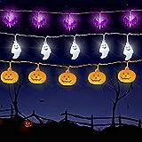 Feeke WesGen Halloween Lights Battery Operated Halloween Decorations String Lights for Outdoor and Indoor,Set of 3