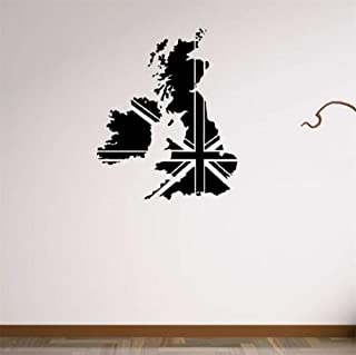DZXGY UK Abstract Pattern Wall Sticker England World Map for Living Room Decoration for Wall Decor Bedroom Accessories Poster 46.5X57Cm