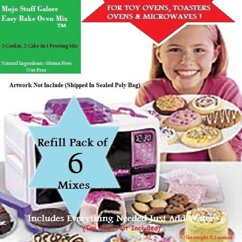 Lalaloopsy Baking Oven Mixes 6 Packs / Lalaloopsy Baking Oven Refill Cakes, Cupcakes, Cookie