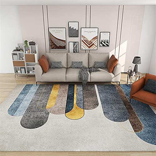 Conciso alfombras de habitacion pequeñas Patrón geométrico Gris Amarillo Azul marrón Alfombra habitación Matrimonio 45X75cm
