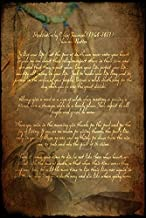 Imagekind Wall Art Print Entitled Chief Tecumseh Poem by Wayne Moran | 21 x 32