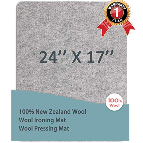 ziyuan Wool Pressing Mat for Quilting Wool Ironing Mat Wool Ironing Pad for Quilters 17 x 24 100% New Zealand Wool Resist Heat, Steam, Durable, Clean, Smooth