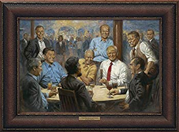 The Republican Club by Andy Thomas   12x18 Framed Canvas Print   President Donald Trump   Republican Presidents