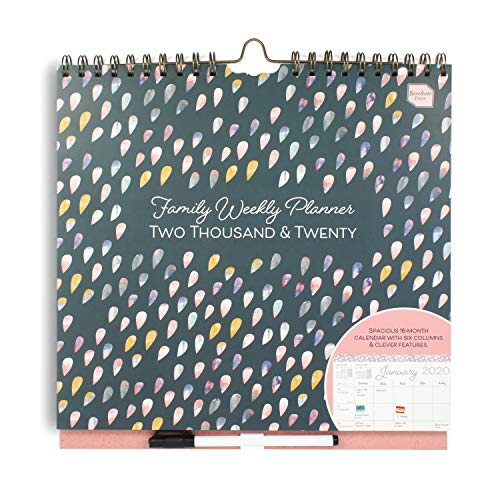 Boxclever Press Family Weekly Planner 2020 Wall Calendar with 6 Columns. Week-to-View 2020 Calendar to use Until Dec '20. The Perfect Family Planner Calendar 2020 to organise Busy schedules.