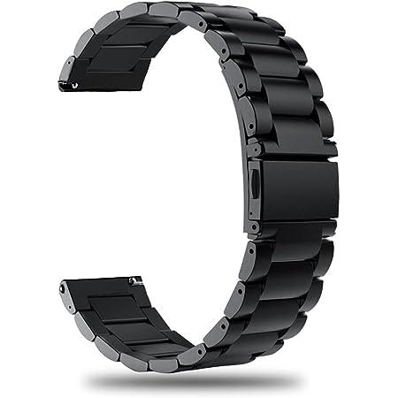 TRUMiRR Compatibile con Galaxy Watch 46mm/Gear S3 Frontier/Classic Bracelet Metallo, 22mm Cinturino per sgancio rapido Banda di Ricambio in Acciaio Inossidabile per Samsung Gear S3 Frontier/Classic