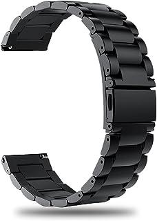 TRUMiRR Compatibile con Galaxy Watch 46mm/Gear S3 Frontier/Classic Bracelet Metallo, 22mm Cinturino per sgancio rapido Ban...