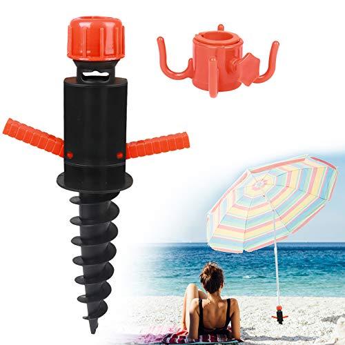 Pie sombrillas,Soporte Sombrilla de playa,Base sombrilla,Pie de Anclaje Plástico para Sombrillas de Playa,parasol sombrilla terraza,Pincho de Sombrillas con Gancho Practico para Sombrilla para Sujetar