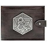 Dungeons & Dragons D&D Ampersand distintivo d'argento Nero Portafoglio