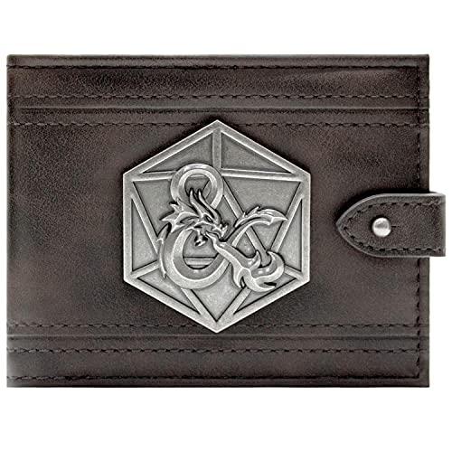Dungeons & Dragons D&D Ampersand silbernes Abzeichen Schwarz Portemonnaie