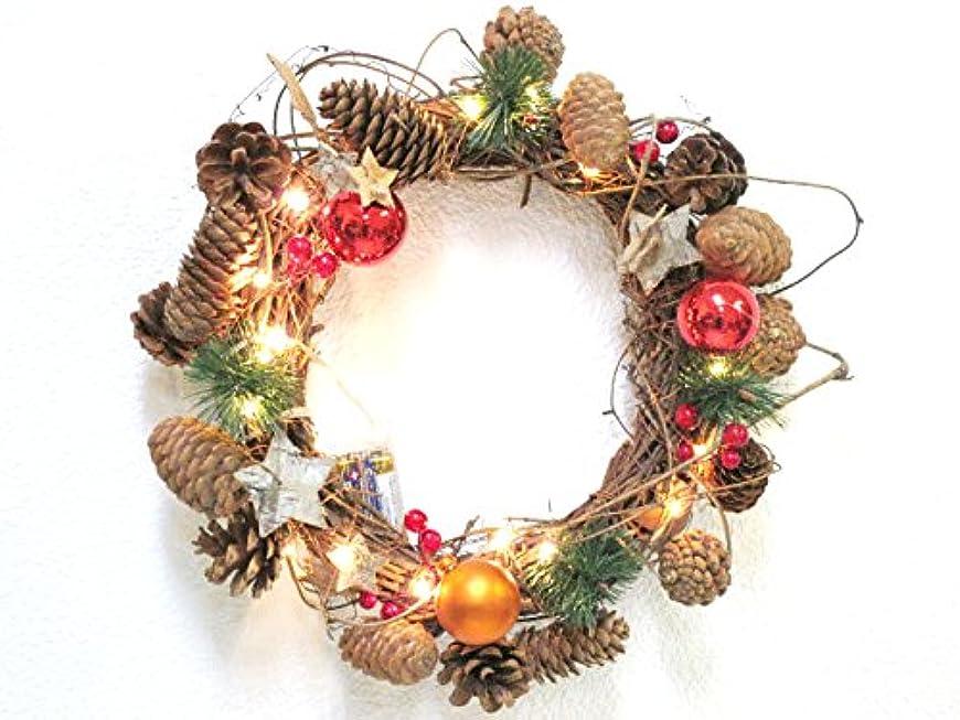 機械的に倫理的物足りないクリスマス レス イヴェール LEDリース スターナチュラル リース LED