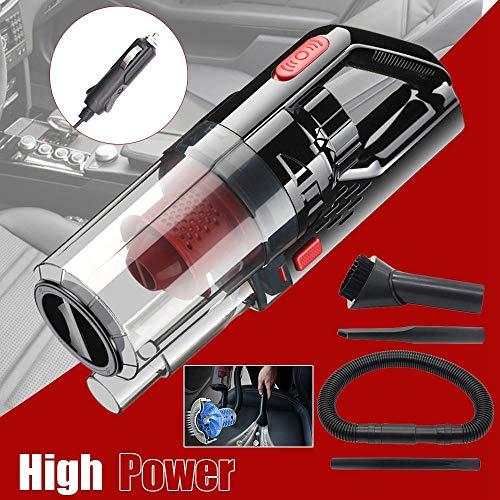 Miwaimao Lichte draagbare 12-V-kabelstofzuiger met gelijkstroom, 150 W, 6000 Pa, sterke zuigkracht, stopcontact, nat-/drooghandautomaat