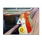 Poster - Edvard Munch Mädchen auf der Brücke I 40x30 cm