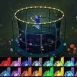 Qasole 16 Farben Trampolinstreifenlicht, wasserdichte LED-String-Licht, Cooper-Draht-Weihnachtslicht Für Trampolin-Reifen/Feiertag/Fee-Hochzeit/Party-Dekoration 40 Ft