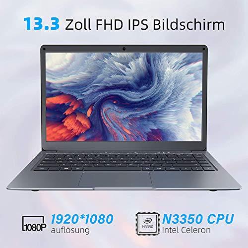 Jumper Notebook Portatile Microsoft Office 365, Portatili FHD da 13,3 pollice (4GB, 64GB, Memoria Espandibile SSD da 1 TB e TF da 256 GB, WiFi Dual Band, Windows 10, Bluetooth 4.2, Intel Celeron CPU)