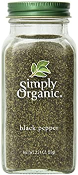 Simply Organic Medium Grind Black Pepper 2.31 Ounce