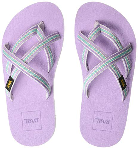 Teva Girls' K Olowahu Sport Sandal, Lindi Orchid Bloom, 11 Medium US Little Kid