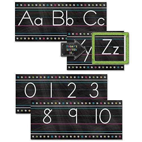 Teacher Created Resources TCR5621 Chalkboard Brights Alphabet Line Bulletin Board St, Paper, Multi