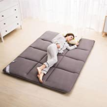 Breathable Thickened Tatami Adult Folding Mattress Comfort Portable Futon Mattress Double Folding Guest Mat for Home Campi...