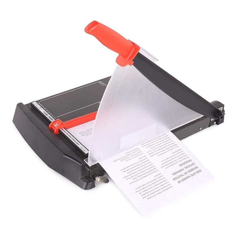 詩人残り物油ペーパーカッター 簡単のためにオフィスホームを切断ピースマインド?ブレードシャープのうち置き肥厚ペーパーカッター20ページ 裁断機 自炊 (色 : Black, Size : 343mm)