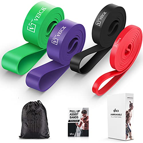 VEICK Resistance Band Set, Workout Tension Bands, Exercise Fitness Bands ,Body Stretch Bands,Pull Up Assist Bands, for Training, Strength, Weighted Gyms, Mobility Home Fitness