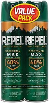 2-Pack Repel Insect Repellent Sportsmen Max Formula 40% DEET, 6.5-Ounce