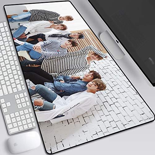 ZDVHM Erweiterte Gaming Mouse Pad K-POP Singer Stern BTS Große Tastatur Mauspad wasserdichte Anti-Rutsch-Spiel Mousepad for Office Home PC Desktop-Tabelle Mauspad (Color : Q, Size : 600 * 300 * 3mm)