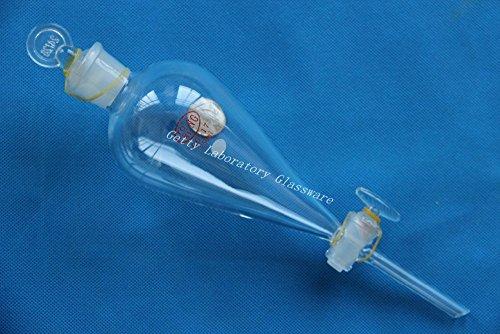 250ml pyriform Scheidetrichter, mit Glas Absperrhahn 24/29Gelenk