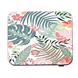 Swono Floral Mouse Pads Wild Flower Leaf Summer African Botanical Tropical Palm Tree Leaves Mouse Pad for Laptop Funny Non-Slip Gaming Mouse Pad for Office Home Travel Mouse Mat 7.9'X9.5'