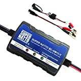 Supernatto 12V Smart Compact Battery Trickle Charger Maintainer for Motorcycle ATV