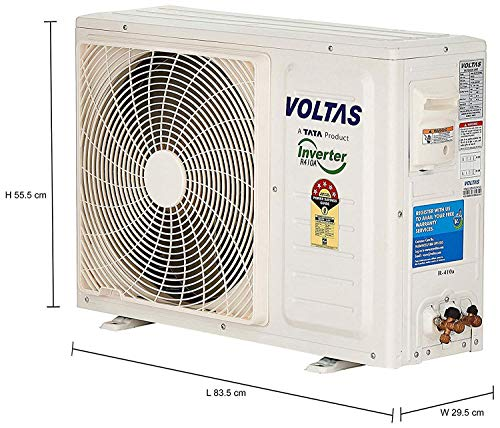 Voltas 1 Ton 5 Star Inverter Split AC (Copper 125V_CZR CLASSIC White)