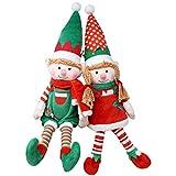 "JOYIN 2 Packs 12"" Elf Soft Plush Christmas Stuffed Toys for Holiday Plush Characters - Fun Decorations and Toys for Kids, Christmas Party Favors, Holiday Decor, and More!"