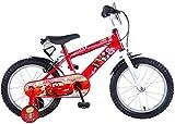 Disney Cars, bicicletta per bambini, 16 pollici, con 2 freni anteriori