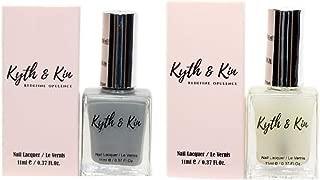 Kyth & Kin Non UV Gel Effect Nail Polish & Top Matte Coat Combo-05 Sterling Grey & Matte Coat