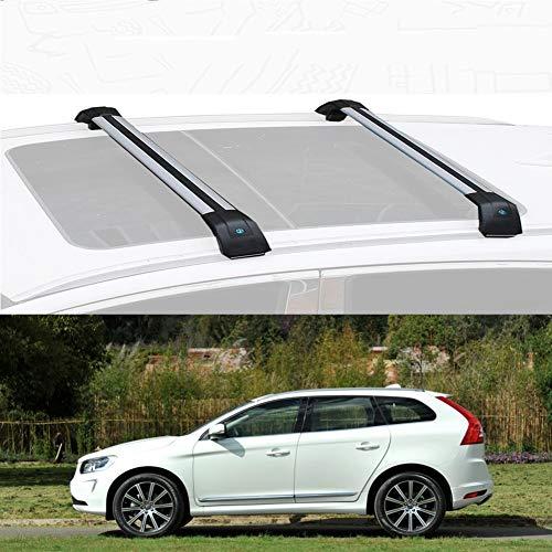 Nologo Ajuste Personalizado for Xc60 Barra De Carga Baca Portaequipajes De Aluminio for Xc60 (Size : For Volvo Xc60 2015)