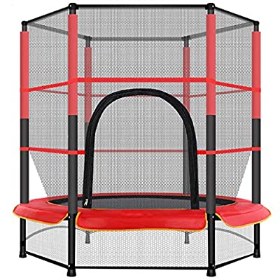 Amazon - Save 75%: US Stock 55 Inch Kids Trampoline with Enclosure Net, Sports Trampoline for…