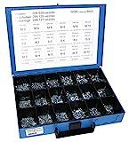 Dresselhaus 8543 - Estuche con tuercas, arandelas elásticas y arandelas en U surtidas (galvanizadas)