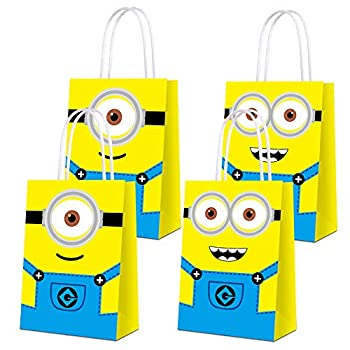 16 PCS Party Favor Bags for Minion-themed Party Supplies Party Gift Candy Bags for Minion-themed Party Favors Decor Birthday Party for Minion-themed Party Kids Birthday Decorations