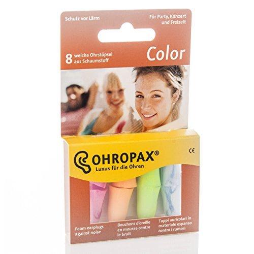 5Pack Ohropax Color Ohrstöpsel aus Schaumstoff 5x 8 Stück