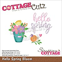 """CottageCutz Dies-Hello Spring Bloom 1.1""""X2.3"""""""