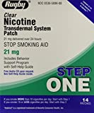 Rugby Clear Nicotine Transdermal System Patch, 21 mg, 14 Count