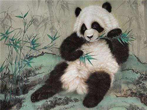 Pintura de diamante punto de cruz animal panda chino 5D DIY mosaico regalo rhinestone decoración del hogar pintura A1 60x80cm