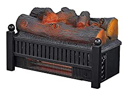 Duraflame DFI041 ARU-2 20-in Juniper Infrared Electric Fireplace Log Set with Crackling Sound
