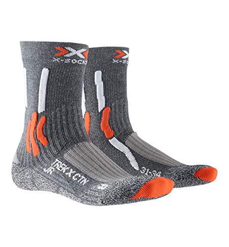 X-SOCKS Trek X Cotton Junior Chaussettes Randonnée Enfant Gris/orange FR : M (Taille Fabricant : 27-30)