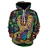 vhidfsjgdsfik Tiger Animal Series 3D Sweater Capuchon à Manches Longues pour...