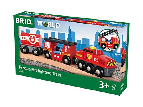 BRIO World - 33844 - TRAIN DES POMPIERS